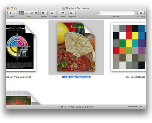 Finder with WITH Art View